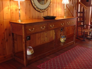 Curly maple sideboard