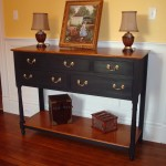 Painted and Curly Maple Sideboard