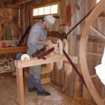 Great wheel lathe I built at the Compass Inn carpenter's shop