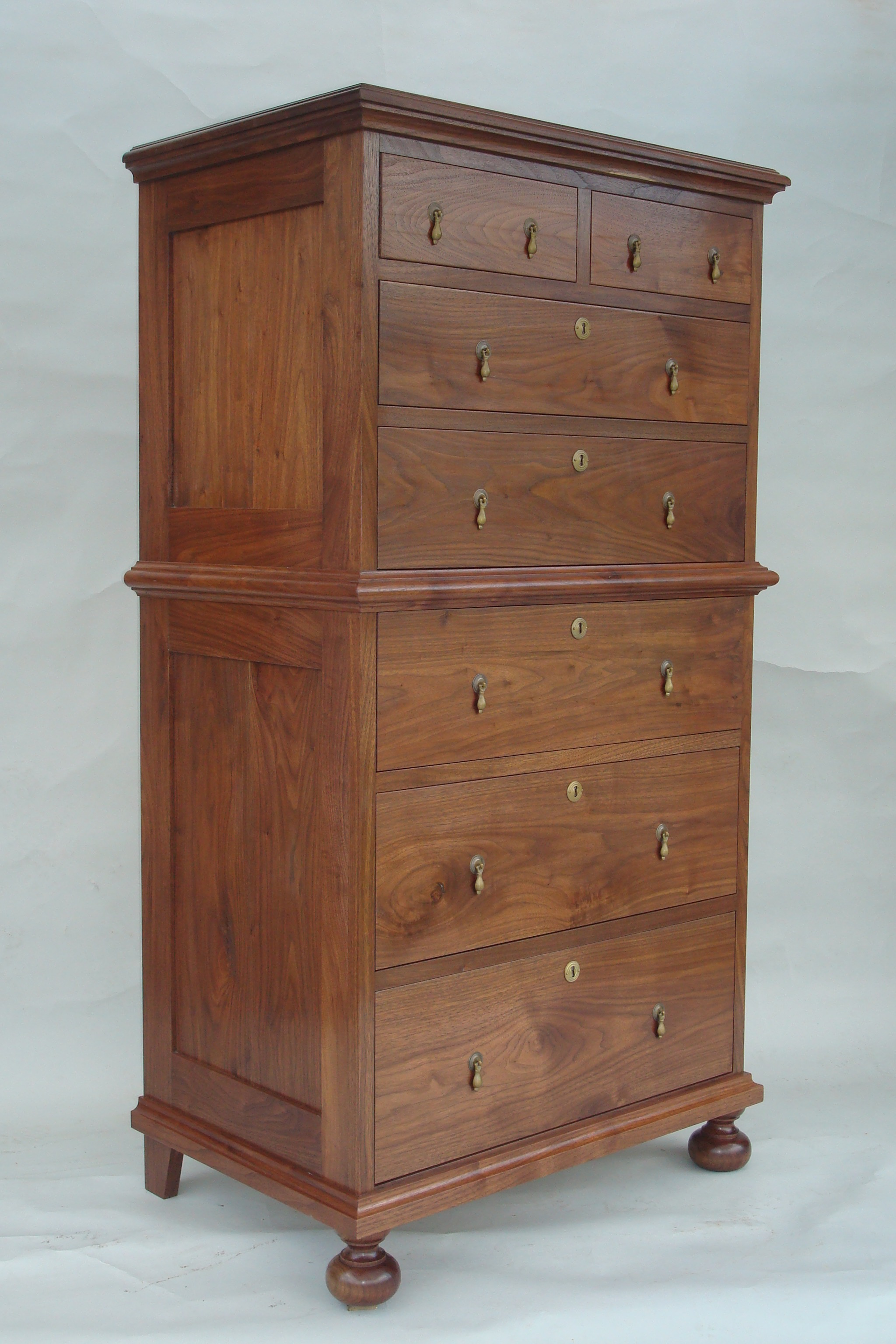 William and Mary Chest on Chest made out of walnut