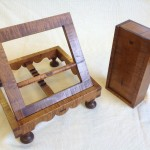Curly maple Bookstand and Sliding lid box
