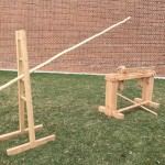Spring pole lathe based on the Moxon drawings with free standing pole support and pole
