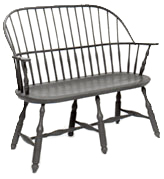 Windsor chair Sack Back Settee