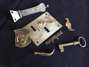 Hardware/ Disassembled Lock showing all the parts