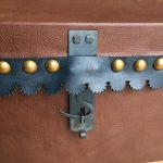 Detail of Document box hasp