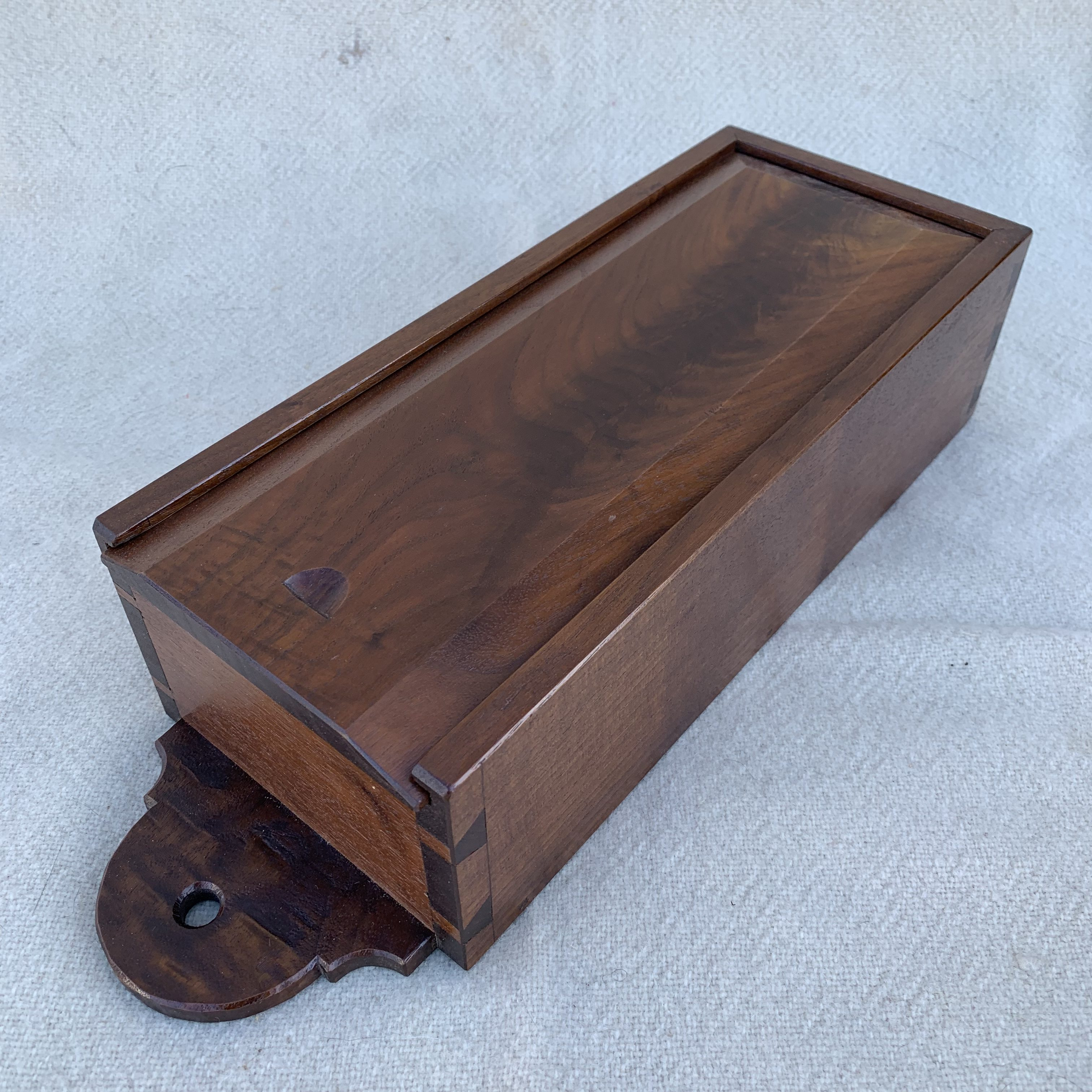 Walnut candle box