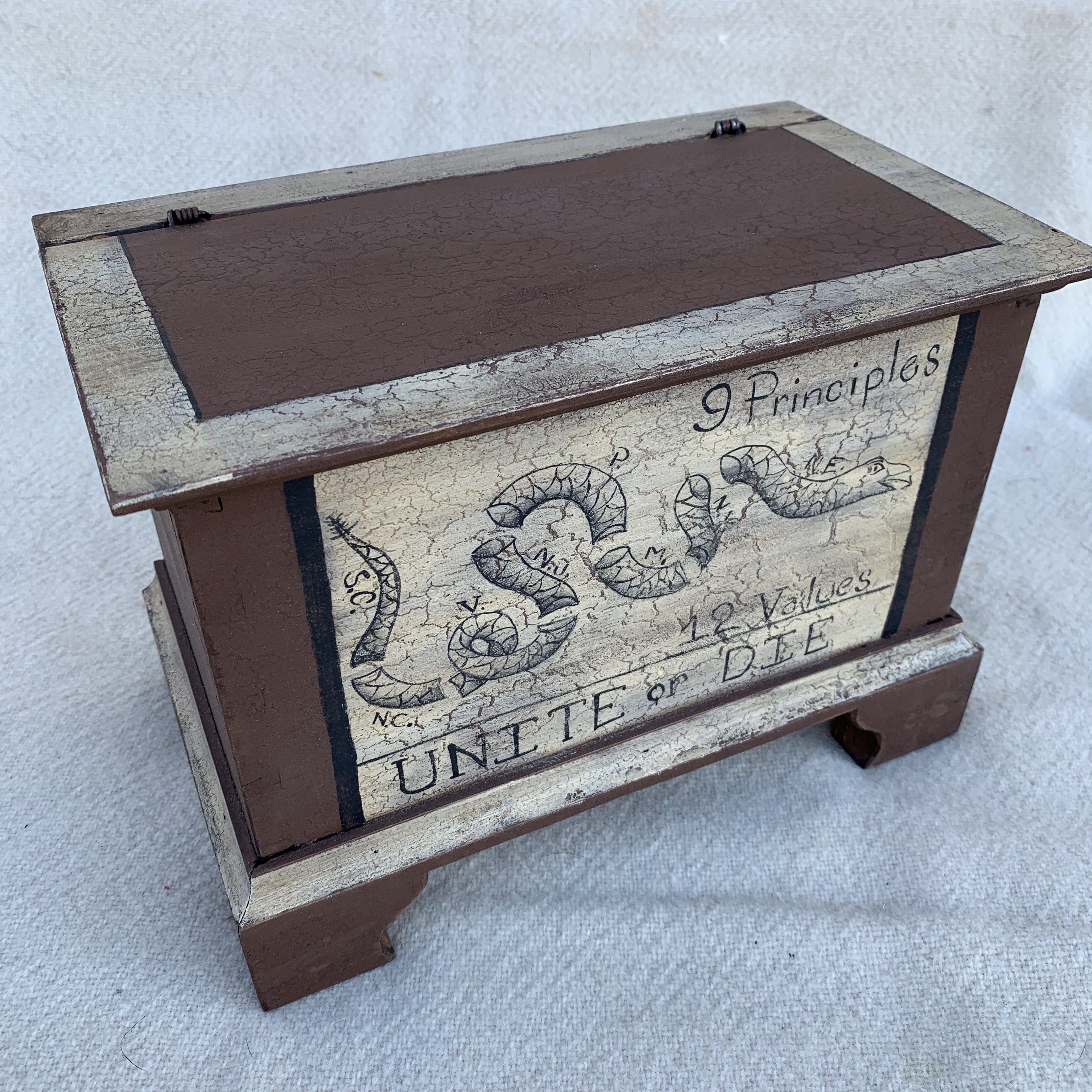 Brown keepsake box