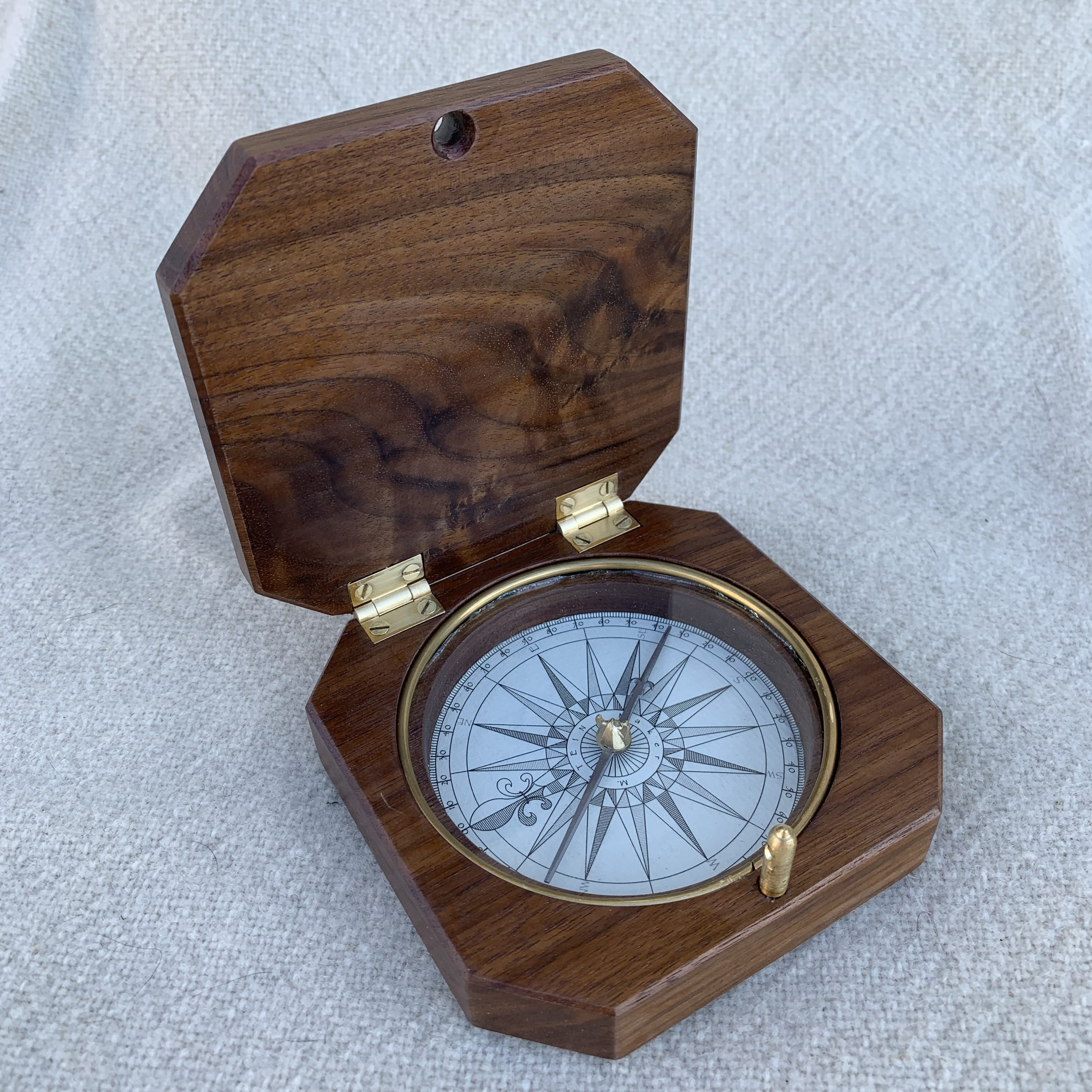 Cased compass