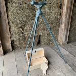 Painted Wooden Surveyors Compass