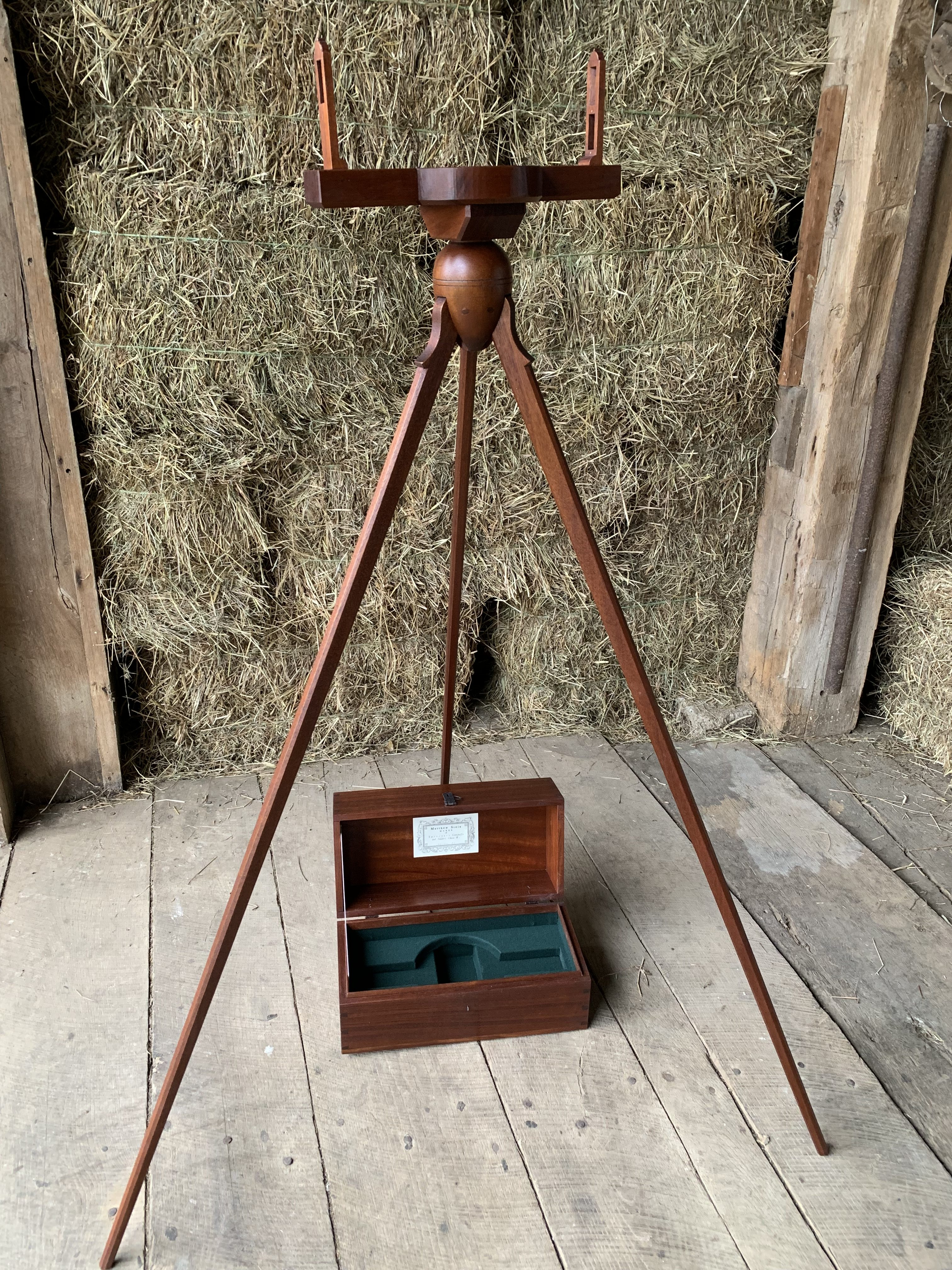 Mahogany Surveyors Compass