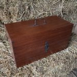Mahogany Surveyors Compass storage box
