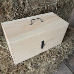 Pine storage box for compass